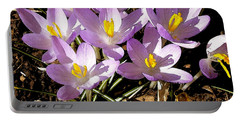 Springtime Crocuses  Portable Battery Charger