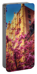Springtime In New York - Pretty In Pink Portable Battery Charger by Miriam Danar
