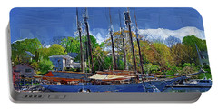 Springtime In The Harbor Portable Battery Charger by Kirt Tisdale