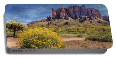 Portable Battery Charger featuring the photograph Springtime In The Superstition Mountains by James Eddy