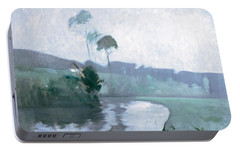 Portable Battery Charger featuring the painting Springtime by John Henry Twachtman