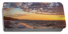 Springtime On Agate Beach Portable Battery Charger