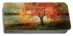 Portable Battery Charger featuring the digital art Sprinkled With Spring by Lois Bryan
