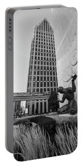 Sprit Of Detroit From Side  Portable Battery Charger