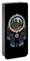 Sprit Of The Wolf Portable Battery Charger by Walter Colvin