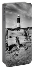 Spurn Point Lighthouse And Groynes Portable Battery Charger