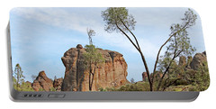 Portable Battery Charger featuring the photograph Square Rock Formation by Art Block Collections