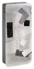 Squares And Shadows Portable Battery Charger by J R Seymour