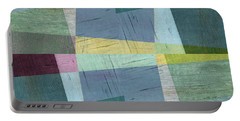 Portable Battery Charger featuring the digital art Squares And Shims by Michelle Calkins