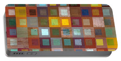 Squares In Squares Four Portable Battery Charger by Michelle Calkins
