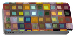 Portable Battery Charger featuring the digital art Squares In Squares One by Michelle Calkins