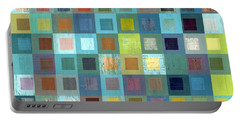 Portable Battery Charger featuring the digital art Squares In Squares Two by Michelle Calkins