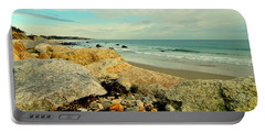 Squibby Cliffs And Mackerel Sky Portable Battery Charger