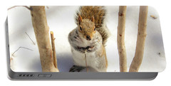 Squirrel In Snow Portable Battery Charger