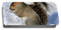 Squirrel In Winter Portable Battery Charger