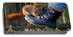 Squirrel On Boot  Portable Battery Charger