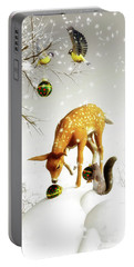 Squirrels And Deer Christmas Time Portable Battery Charger