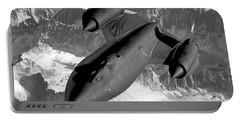 Sr-71 Blackbird Flying Portable Battery Charger