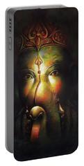 Sree Ganesha Portrait  Portable Battery Charger
