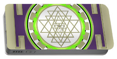 Sri Yantra Of Prosperity Portable Battery Charger
