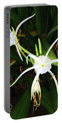 St. A S Spider Flower Couple Portable Battery Charger by Daniel Hebard