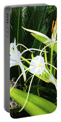 Portable Battery Charger featuring the photograph St. Aandrews Spider Flower Family by Daniel Hebard