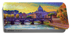 St Angelo Bridge Ponte St Angelo Rome Portable Battery Charger