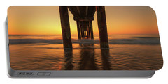 St Augustine Beach Pier Morning Light Portable Battery Charger