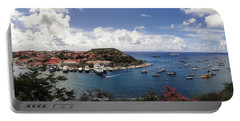 Portable Battery Charger featuring the photograph St. Barths Harbor At Gustavia, St. Barthelemy by Lars Lentz