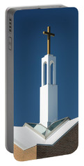 Portable Battery Charger featuring the photograph St Benedicts Church Rooftop by Gary Slawsky