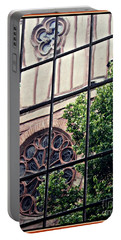 St Boniface Church In Reflection  Portable Battery Charger by Sarah Loft