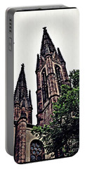 St Boniface Church Towers   Portable Battery Charger by Sarah Loft