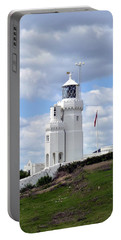 Portable Battery Charger featuring the photograph St. Catherine's Lighthouse On The Isle Of Wight by Carla Parris