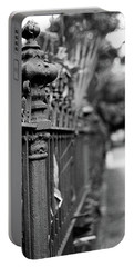 St. Charles Ave Wrought Iron Fence Portable Battery Charger