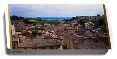 Portable Battery Charger featuring the photograph St. Emilion View by Joan  Minchak