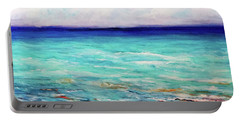 Portable Battery Charger featuring the painting St. George Island Breeze by Ecinja Art Works