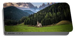 St. Johann Church In Val Di Funes Portable Battery Charger