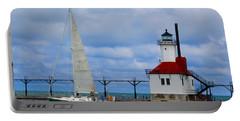 St. Joseph Lighthouse Sailboat Portable Battery Charger