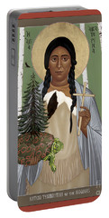 St. Kateri Tekakwitha Of The Iroquois - Rlktk Portable Battery Charger