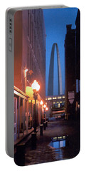 Portable Battery Charger featuring the photograph St. Louis Arch by Steve Karol