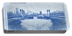 St. Louis Cardinals Busch Stadium Blueprint Names Portable Battery Charger