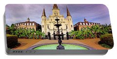 Portable Battery Charger featuring the photograph St. Louis Cathedral - New Orleans - Louisiana by Jason Politte
