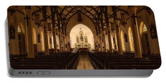 St. Louis Catholic Church Of Castroville Texas Portable Battery Charger
