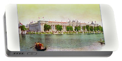 St. Louis World's Fair Palace Of Education Portable Battery Charger by Irek Szelag