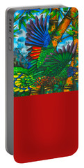 St. Lucia Amazon Parrot - Exotic Bird Portable Battery Charger