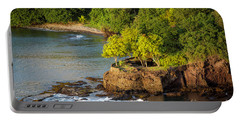 St Lucia - Trees On A Rocky Point Portable Battery Charger