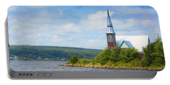 St Marks In Middle Lahave Nova Scotia Portable Battery Charger by Ken Morris