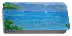 St Martin From Anguilla Portable Battery Charger by Margaret Brooks