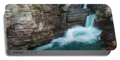 Portable Battery Charger featuring the photograph St. Mary Falls by Gary Lengyel