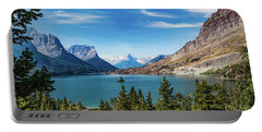 Portable Battery Charger featuring the photograph St. Mary Lake, Glacier N.p. by Lon Dittrick